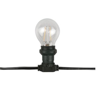 Belt Light E27, Black cable IP44, 20m, ohne Lampen